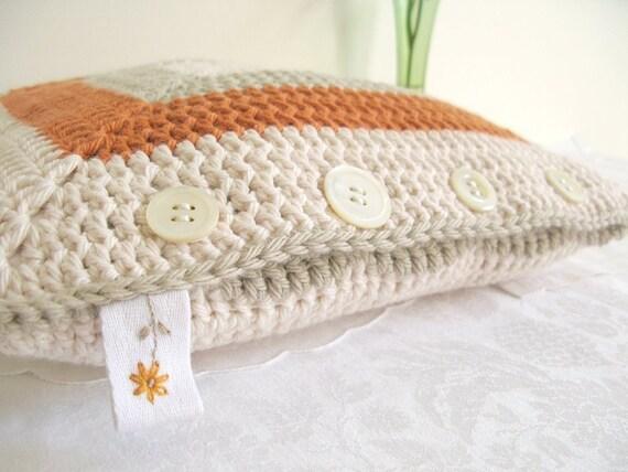 SALE - Agnes... crochet 'granny' cushion cover