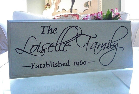 The Difference is in the Detail...Carved Personalized Family Name Sign 7 x 20