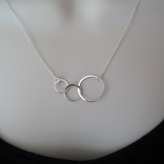 Silver Link necklace--sterling silver