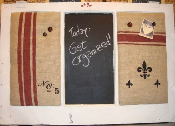 reclaimed vintage window message board (farmhouse, primitive, shabby chic, flea market)