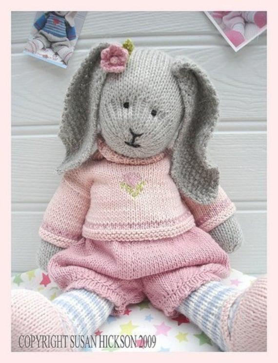 خرگوش پامچال / اسم حیوان دست اموز Knitted اسباب بازی پی دی اف الگوی ایمیل / اسباب بازی الگو بافندگی