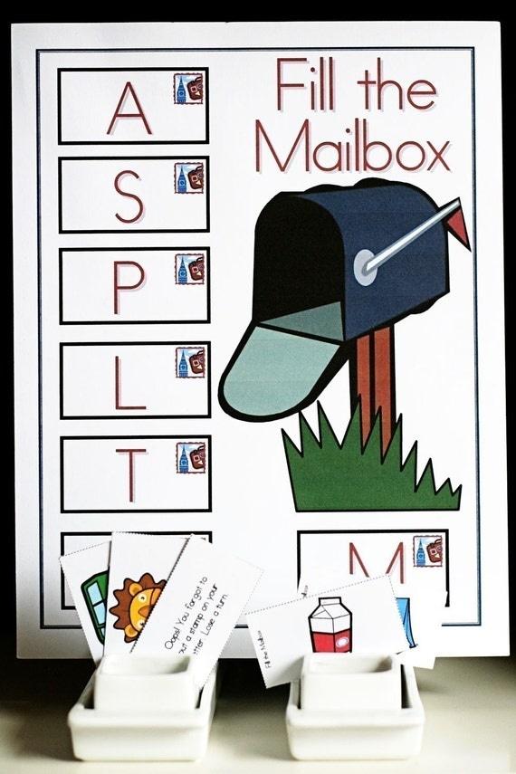 Printable Alphabet Games Set 1 Three Games, Chart, and Three Skill Sheets