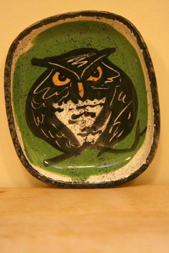 Vintage Owl Dish