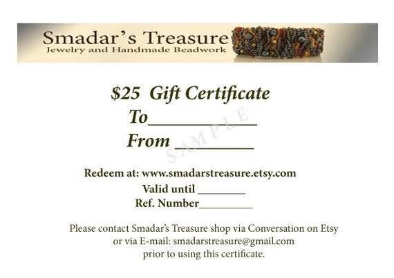 25 USD Gift Certificate by Email