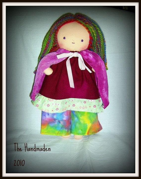 Waldorf inspired rainbow doll 13 inch