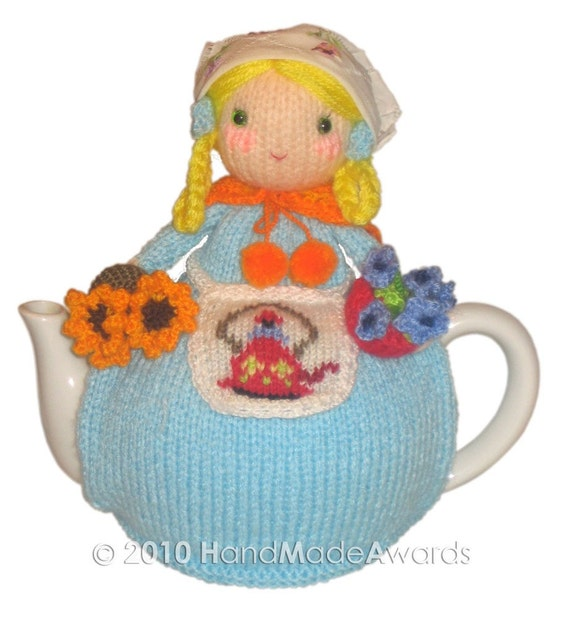 SUZANNE the GARDENER Tea Cosy PDF Email KNIT PATTERN