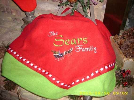 Custom Embroidered Christmas Tree Skirt