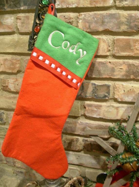 Custom Embroidered Christmas Stocking