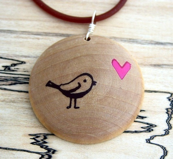 TweetHeart...Maple Wood Pendant Jewelry...Family Circle Valentine Gift Guide 2011...I am a KIVA loanerj