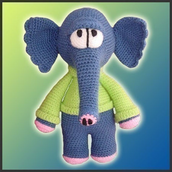 Waldo, The Elephant - Amigurumi Pattern