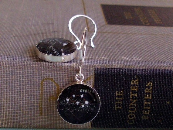 Stardust Vintage Constellation Map Petite Earrings