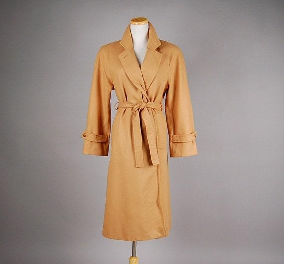 vintage 80s jacket camel wool trench evan picone