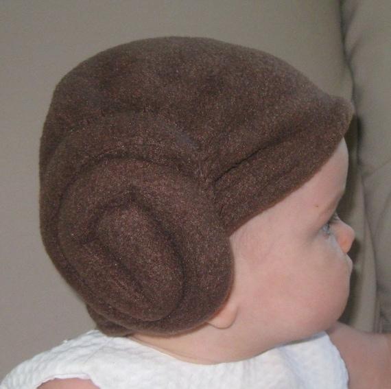 Leia Baby Hairdo Hat PDF Pattern