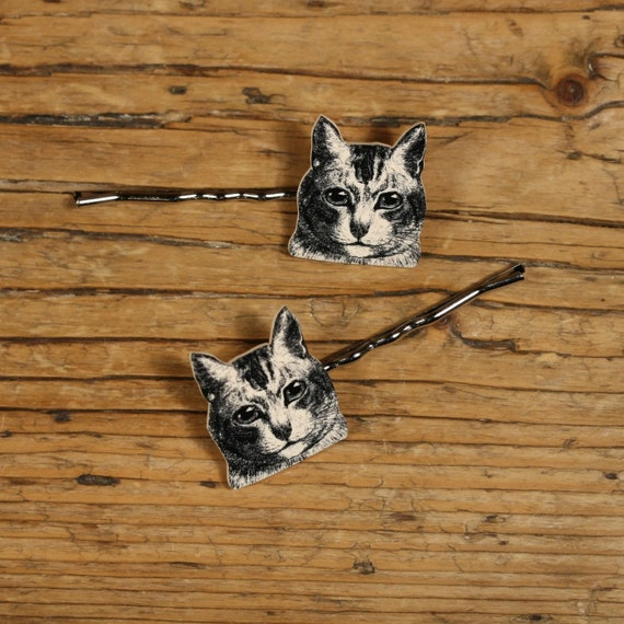 Elliot the Cat Bobby Pins