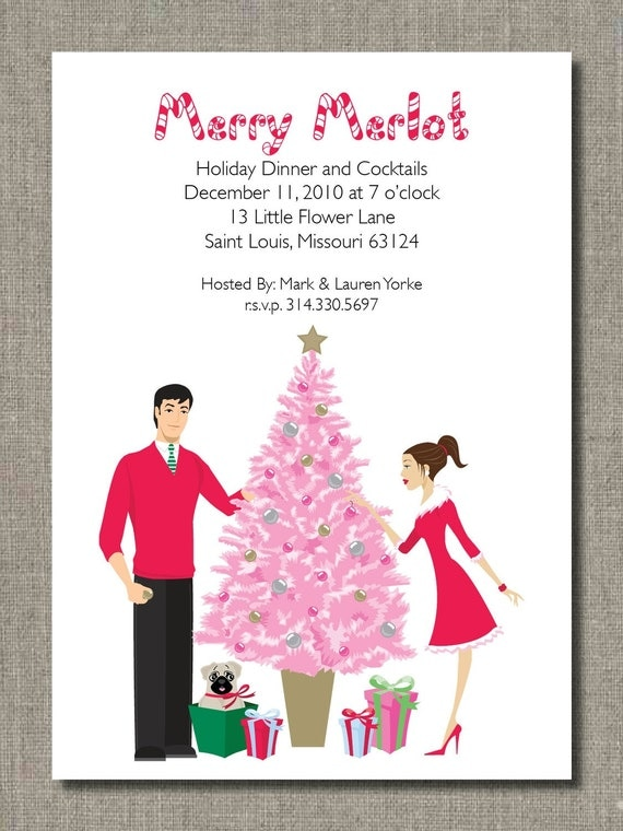 Trimming the Tree Holiday Invite - Set of 12 by Flair Designery
