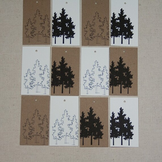 Tree Silhouette Tags