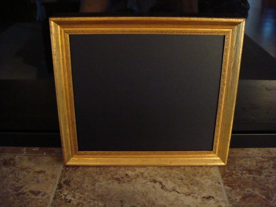 Vintage Gold Leaf Framed Chalkboard (Italian Gold Leaf Look))