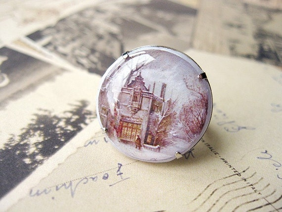 FREE SHIPPING Winter House Clay Ring