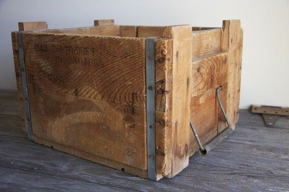 old wooden ammo crate