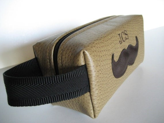Larger Sized Mr. Mustache Shaving Bag for Groomsmen
