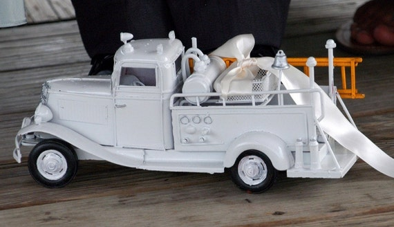 Ring Bearer Fire Truck in White