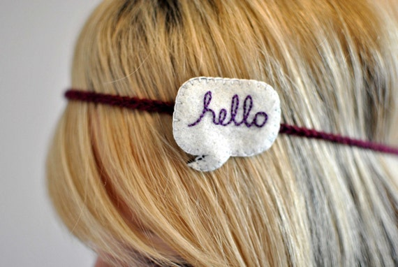 Say Anything - CUSTOM Word Bubble Headband