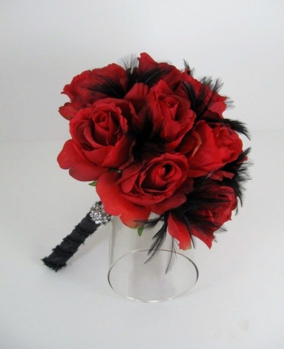 Wedding Bouquets Red And Black : Hristina s i know wedding dresses are usually white