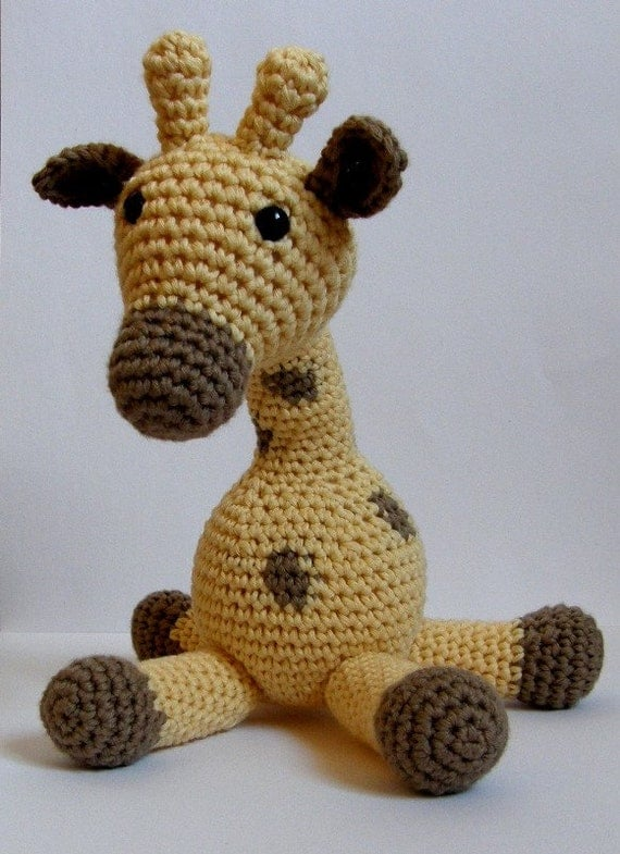 Organic cotton giraffe soft toy