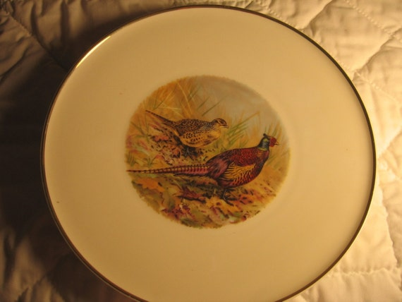 H and C plate Vintage Germany Wildlife sceneFrom Deedeesew