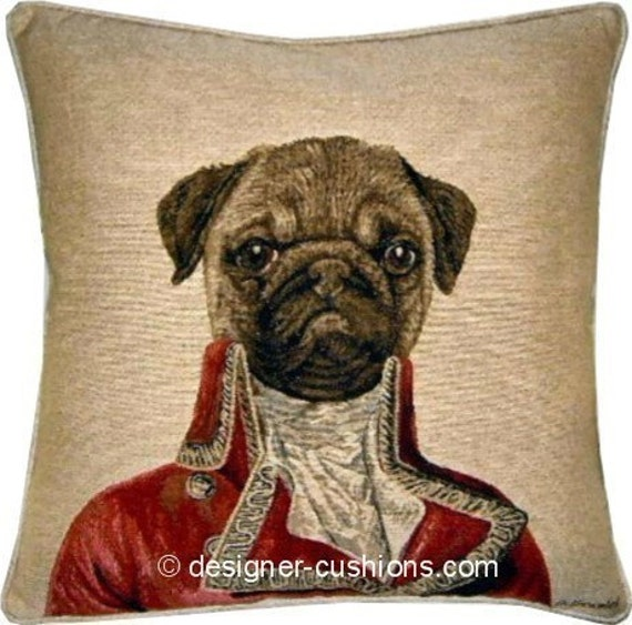 Thierry Poncelet Pug Tapestry Cushion Cover Sham