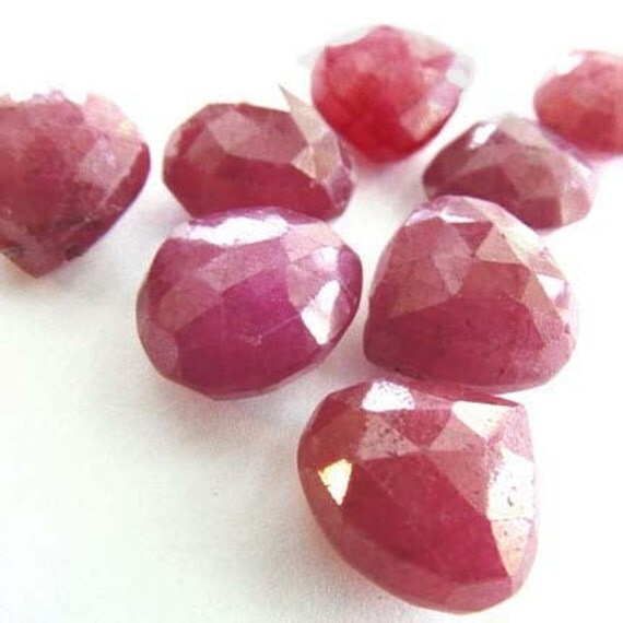 Genuine Gemstone Ruby Briolettes
