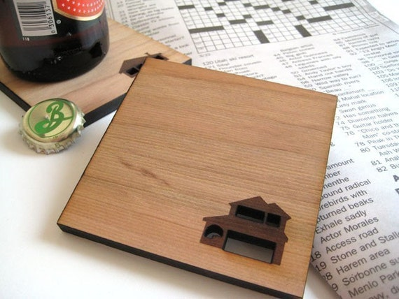 Home Sweet Home Wood Coasters