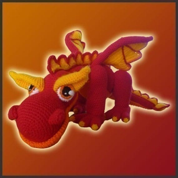 JJ, The Fire Dragon - Amigurumi Pattern