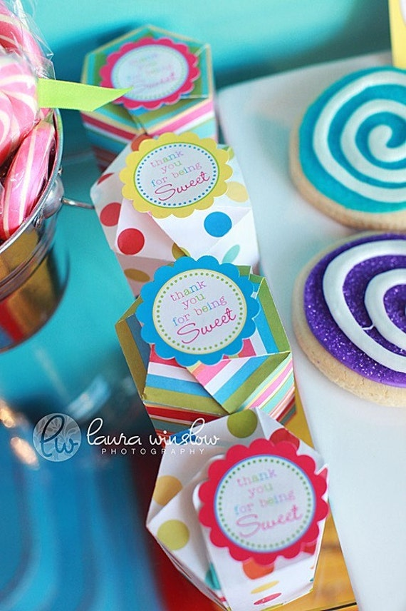 PRINTABLE FAVOR TAGS - Lollipop Party Collection - The TomKat Studio
