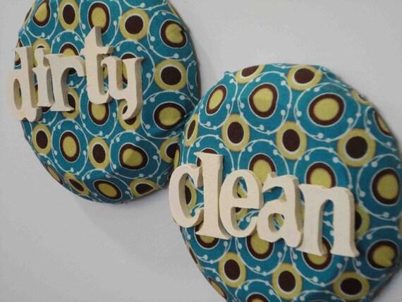 Dishwasher Magnets (teal blue/brown)
