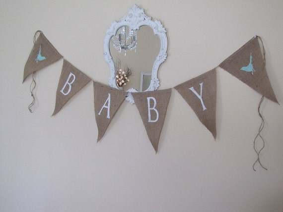 GENDER FRIENDLY  Baby Burlap Banner
