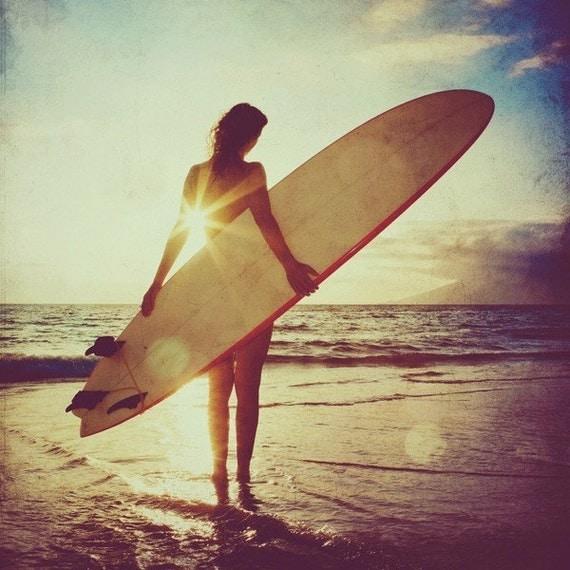 Surfer Girl - 5x5 print
