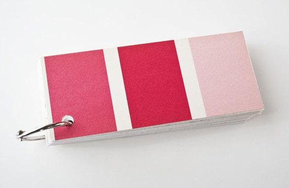 Vintage Pantone Color Chart Jotter Bubblegum Pink