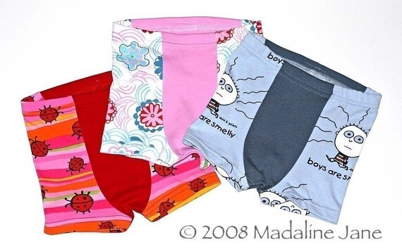 3pk Childrens Boxer Briefs, Custom Size 2-6
