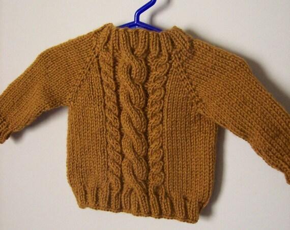 ژاکت بافته کابل کودک -- نوزاد -- شتر