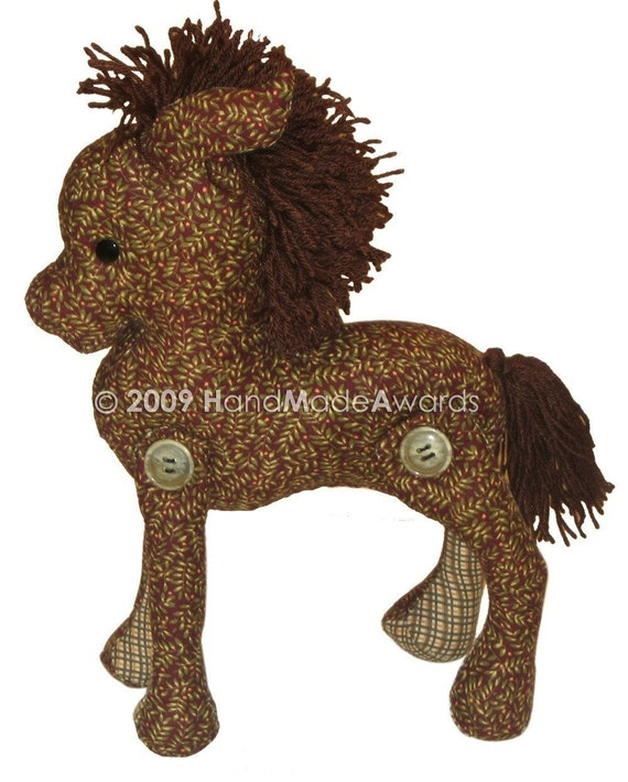 Lovely Fabric HORSE Classic Vintage Style PDF email PATTERN