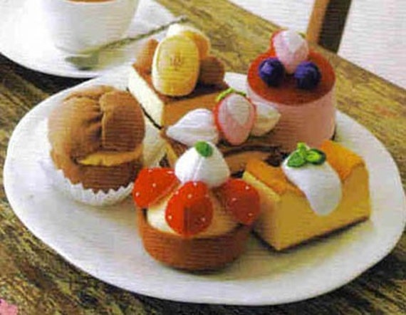 Free Shipping 40 felt sweets food pattern 1 PDF (jpg)