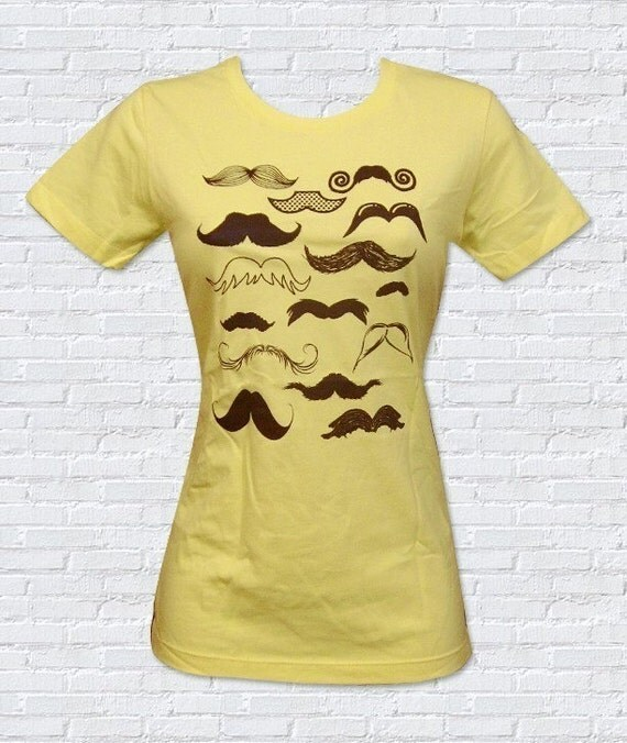 Mustache Collection Ladies T-Shirt - Sizes S, M, L, XL