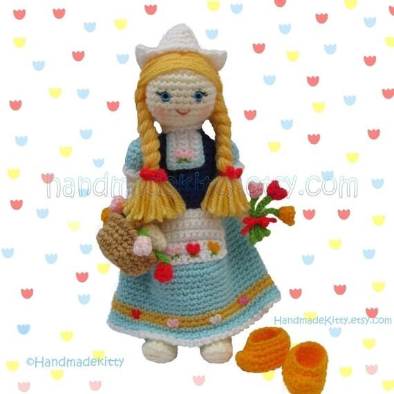 Dutch Doll Amigurumi PDF Crochet Pattern by HandmadeKitty