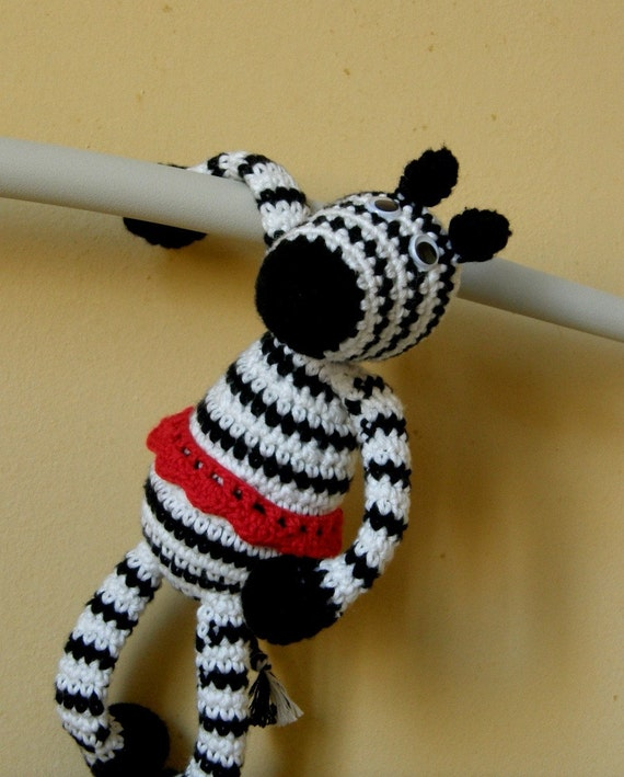 Organic cotton zebra Emma soft toy