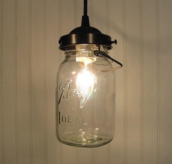 Orono. Vintage BALL Canning Jar PENDANT Created NEW