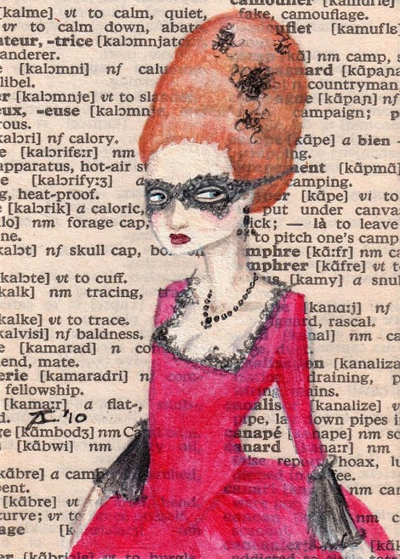 Limited Edition ACEO Print 4 0f 20 - Paris,1778 - Mademoiselle De Roux Overhears Another Member of the Court Speaking Ill of Her