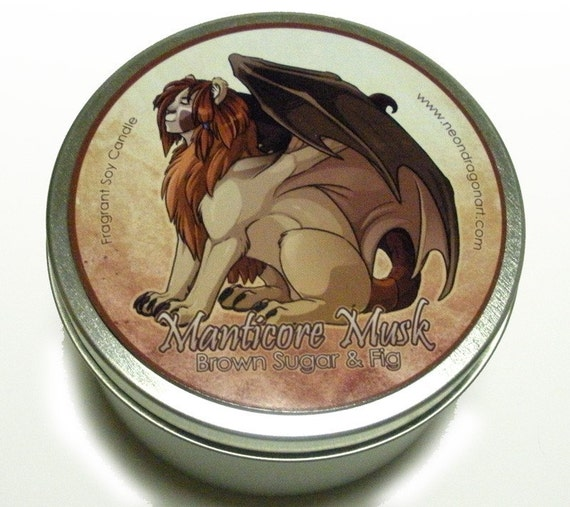 Manticore Musk - Brown Sugar and Fig - 8oz Candle Tin