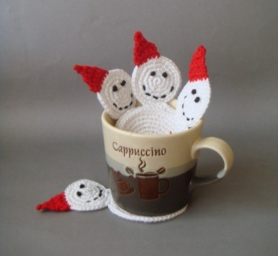 Эко дружественных Симпатичные Подставки Snowman (набор из 4)