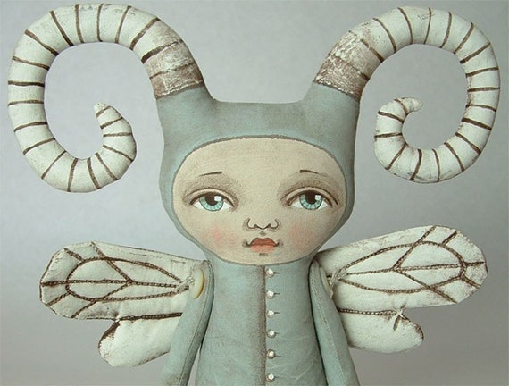 ZOEE BUG--- Contemporary Folk Art Doll-MADE TO ORDER